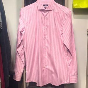 Boss Black label Pink Slim Fit Dress Shirt NWOT